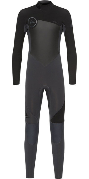2018 Quiksilver Boys Syncro 4/3mm Back Zip Wetsuit Graphite / Black EQBW103027