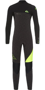 Quiksilver Boys Highline 4/3mm Zip Free Wetsuit Black Heather EQBW103035