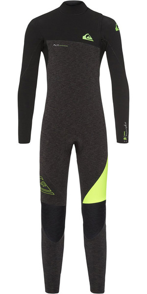 2018 Quiksilver Boys Highline 4/3mm Zipperless Wetsuit Black Heather EQBW103035
