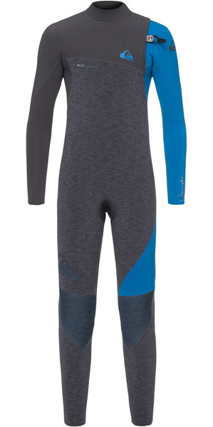 2018 Quiksilver Boys Highline 4/3mm Zipperless Wetsuit Slate Heather EQBW103035