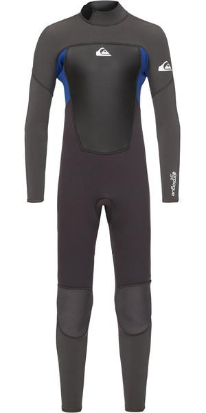 2018 Quiksilver Boys Prologue 3/2mm Back Zip Wetsuit Black / Nite Blue EQBW103039