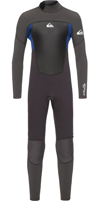 Quiksilver Boys Prologue 3/2mm Back Zip Wetsuit Black / Nite Blue EQBW103039