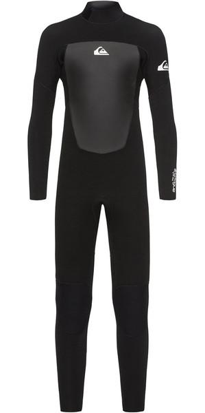 2018 Quiksilver Boys Prologue 3/2mm Back Zip Wetsuit Black EQBW103039