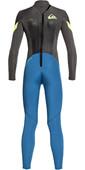 2021 Quiksilver Toddler Boys Syncro 3/2mm Back Zip Wetsuit Marina / Jet Black EQKW103004