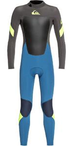 2020 Quiksilver Toddler Boys Syncro 3/2mm Back Zip Wetsuit Marina / Jet Black EQKW103004