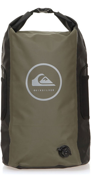 2019 Quiksilver Sea Stash II 35L Roll Top Back Pack Thyme EQYBP03485
