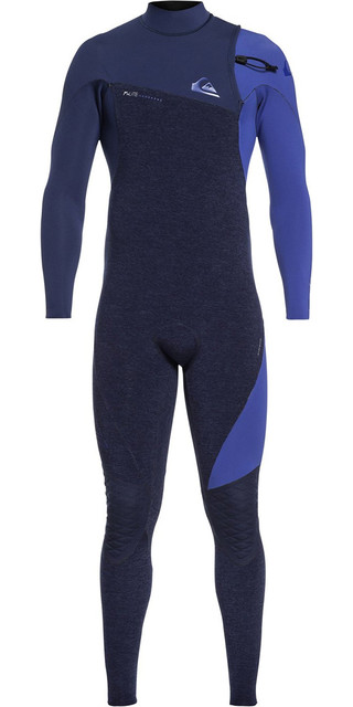 e8484c8a24cd 2019 Quiksilver Highline 3/2mm Zipperless Wetsuit Navy Heather Eqyw103062  Picture