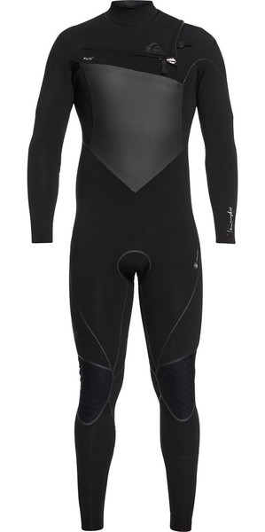 2018 Quiksilver Highline+ 4/3mm Chest Zip Wetsuit Black EQYW103059