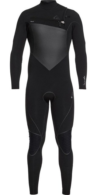 2018 Quiksilver Highline+ 3/2mm Chest Zip Wetsuit Black Eqyw103060 Picture