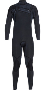 2018 Quiksilver Mens Highline Ltd Monochrome 4/3mm Chest Zip Hydrolock Wetsuit BLACK EQYW103074