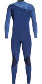 2020 Quiksilver Mens Highline Ltd Monochrome 3/2mm Chest Zip Hydrolock Wetsuit Iodine Blue / Cascade Blue EQYW103075