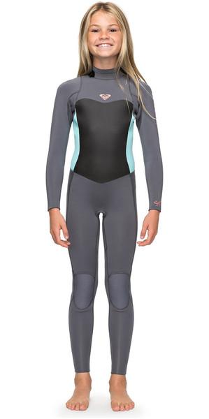 2018 Roxy Girls Syncro 3 2mm Back Zip Wetsuit Deep Grey   Glacier Blue  ERGW103013 Roxy 18d56dba85a