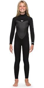 2018 Roxy Girls Prologue 4/3mm Back Zip Wetsuit Black ERGW103022