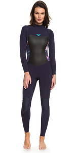 Roxy Womens Syncro 3/2mm Back Zip Wetsuit Blue Ribbon ERJW103024