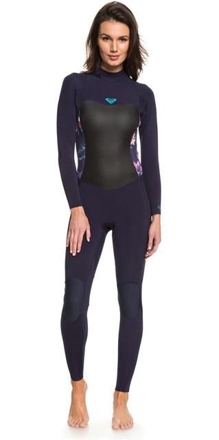 2018 Roxy Womens Syncro 3/2mm Back Zip Wetsuit Blue Ribbon Erjw103024 Picture