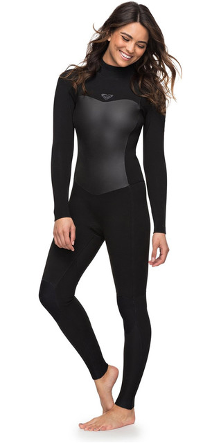 2018 Roxy Womens Syncro 3/2mm Back Zip Wetsuit Black Erjw103024 Picture
