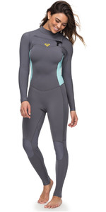 2018 Roxy Womens Syncro 3/2mm Chest Zip Wetsuit Deep Grey ERJW103025