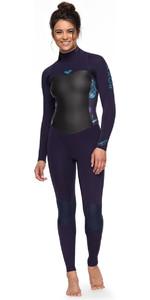 Roxy Womens Syncro 4/3mm Back Zip Wetsuit Blue Ribbon ERJW103027