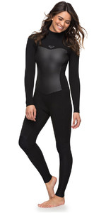 2018 Roxy Womens Syncro 4/3mm Back Zip Wetsuit Black ERJW103027