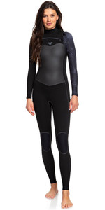 2020 Roxy Womens Syncro Plus 4/3mm Chest Zip LFS Wetsuit Black / Gunmetal ERJW103030