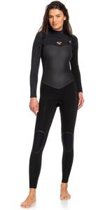 2020 Roxy Womens Performance 3/2mm Chest Zip Wetsuit Black ERJW103031