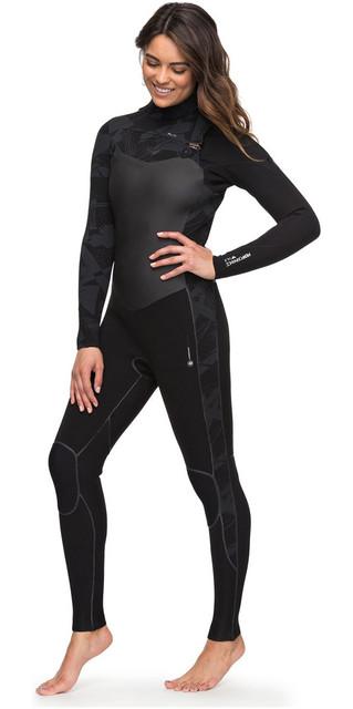 2018 Roxy Womens Performance 4/3mm Chest Zip Wetsuit Black Erjw103032 Picture
