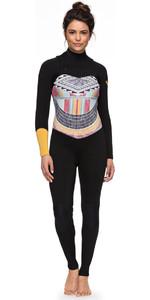 Roxy Womens Popsurf 3/2mm GBS Chest Zip Wetsuit Black ERJW103036