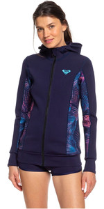 2019 Roxy Syncro Paddle Jacket Blue Ribbon / Coral Flame ERJW803013