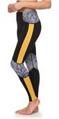 Roxy Popsurf 1mm Scalop Capri Surf Leggings Black ERJWH03012