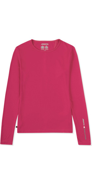 2019 Musto Womens SunShield Permanent Wicking UPF30 Long Sleeve T-shirt Magenta EWTS019