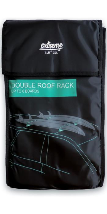 2021 Extreme Surf Co Double Overhead Soft Roof Racks XTSURF03 - Black