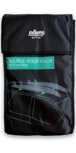 2020 Extreme Surf Co Double Overhead Soft Roofracks XTSURF03 - Black