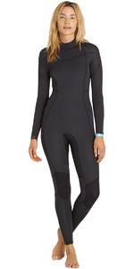 2018 Billabong Womens Synergy 5/4mm Back Zip Wetsuit BLACK SANDS F45G12