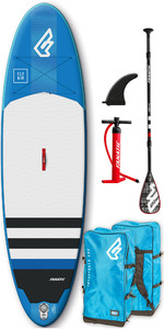 2020 Fanatic Fly Air 10'4 Inflatable SUP Package 1131 - Board, Carbon 25 Paddle, Bag Pump & Leash - Blue