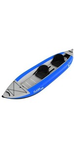 2019 Z-Pro Flash 2 Man High Pressure Inflatable Kayak Blue FL200 - Kayak Only