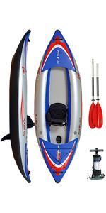 Z-Pro Flash 1 Man High Pressure Inflatable Kayak, Paddle & Pump FL100