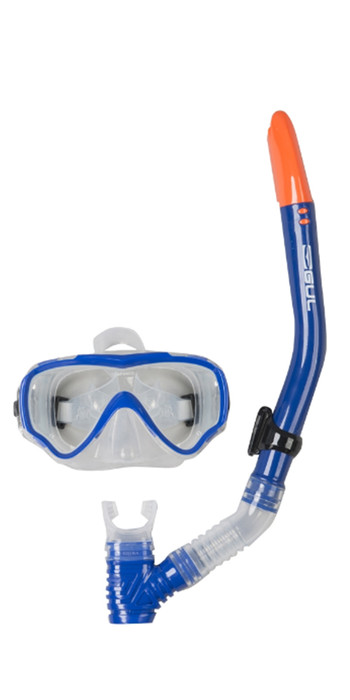 2020 Gul JUNIOR TARPON Mask & Snorkel Set in Blue / Black GD0002