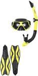 2019 Gul Tarpon ADULT Mask / Snorkel & FIN Set in Yellow / Black GD0003