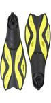2018 Gul Tarpon ADULT Mask / Snorkel & FIN Set in Yellow / Black GD0003
