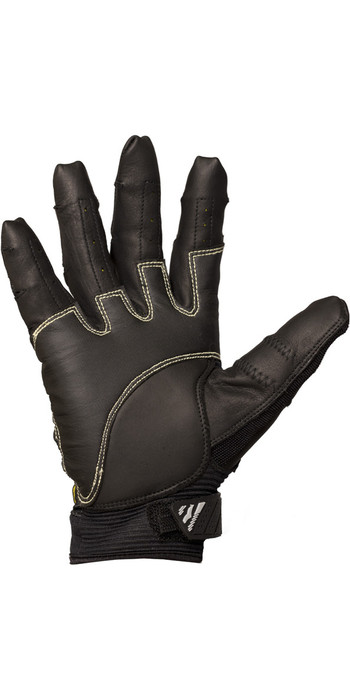 2020 Gul Junior EVO Pro Full Finger Sailing Glove Black GL1301-B4