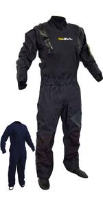 2019 Gul Junior Code Zero Stretch U-Zip Drysuit Black GM0368-B5 2ND