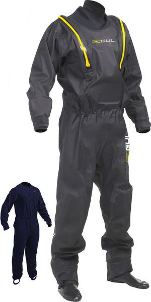 2018 Gul Code Zero Stretch U-Zip Drysuit + Pee Zip Black GM0368-B5 INCLUDING UNDERFLEECE