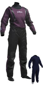 2019 Gul Womens Code Zero U-ZIP Drysuit Black / Plum GM0373-A8 INCLUDING UNDERFLEECE