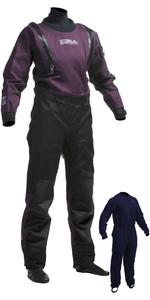 2020 Gul Womens Code Zero U-ZIP Drysuit Black / Plum GM0373-A8 INCLUDING UNDERFLEECE