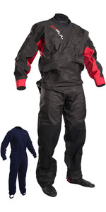 2018 GUL Dartmouth Eclip Zip Drysuit BLACK / RED GM0378-B3 WITH FREE UNDERSUIT