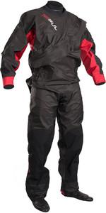 2018 GUL Junior Dartmouth Eclip Zip Drysuit BLACK / RED GM0378-B3