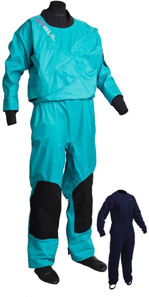 2018 GUL Womens Dartmouth Eclip Zip Drysuit BLUE GM0383-B3 INCLUDING UNDERFLEECE
