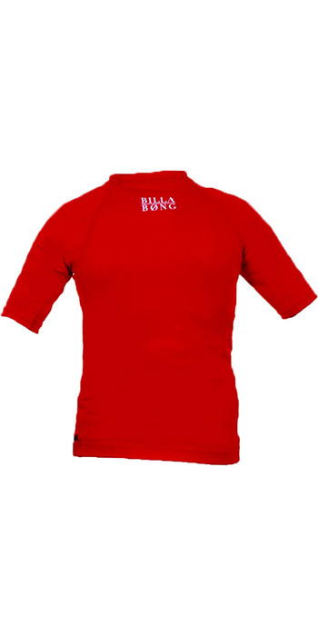 Billabong Go Bananas Short Sleeved Rash Vest in RED P4KY10