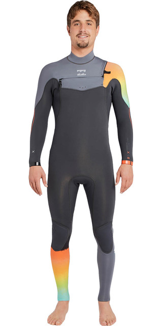 2018 Billabong Furnace Comp 3/2mm Chest Zip Wetsuit Graphite F43m14 Picture