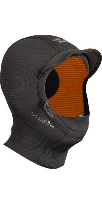 2020 GUL 3mm Peaked Surf Hood BLACK HO0312-B3